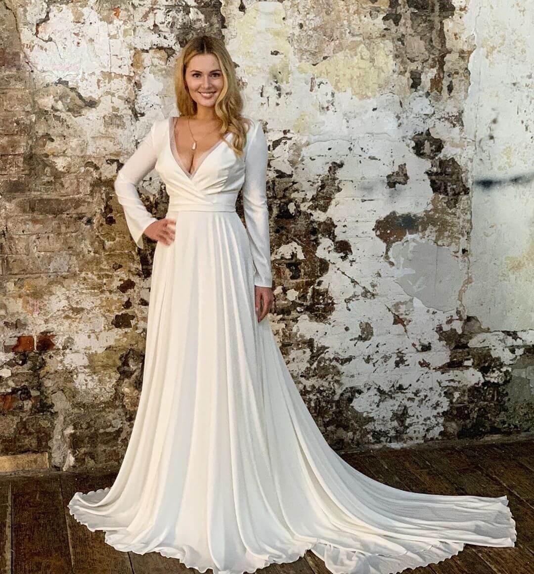 как подписанные фото свадебных платьев уже